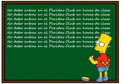 Bart Simpson y el Paridas Club