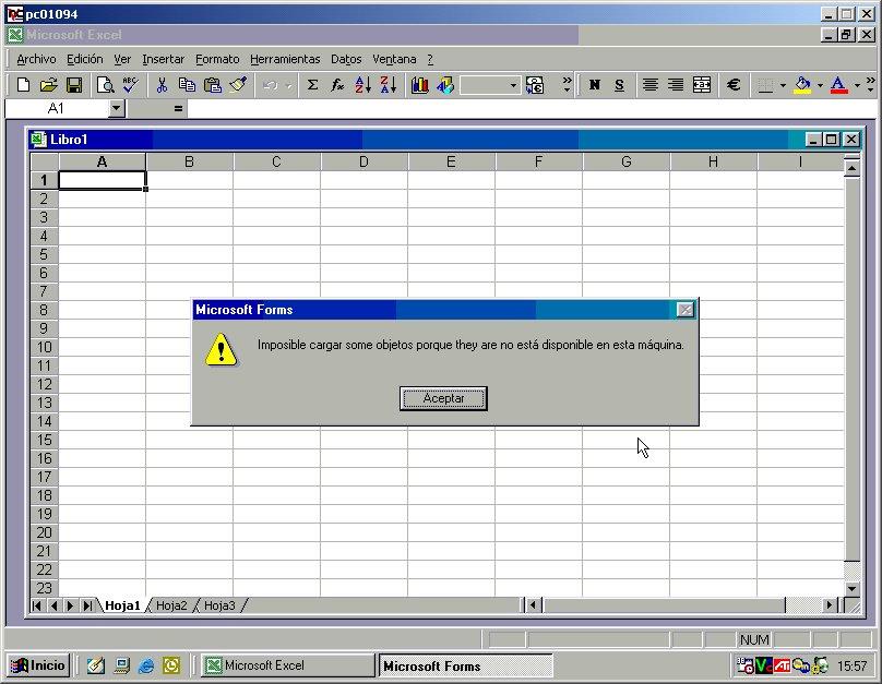 Mensaje de Excel en Spanglish