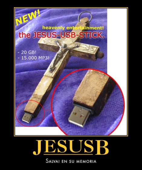 Memoria USB en forma de cruz