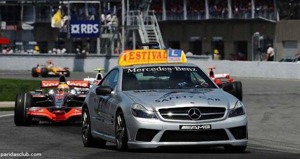 El safety car del último Gran Premio de Fórmula 1