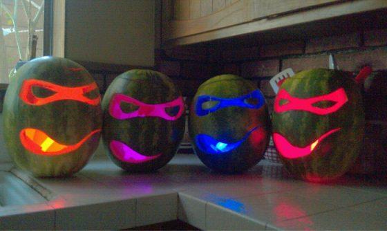 Las calabazas Ninja de Halloween