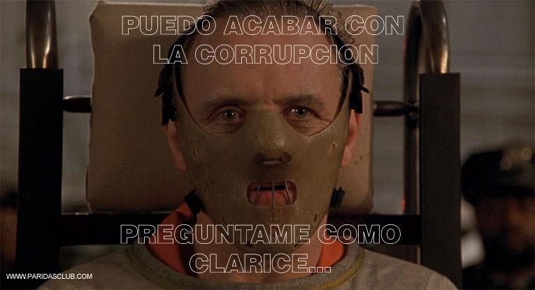 Hannibal Lecter puede acabar con la corrupción