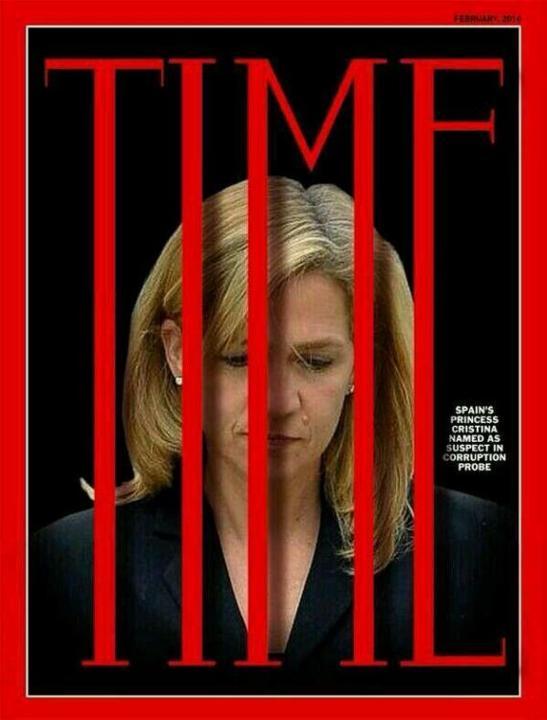 Infanta Cristina entre rejas. Revista Time