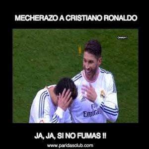 mecherazo a Cristiano Ronaldo. Meme
