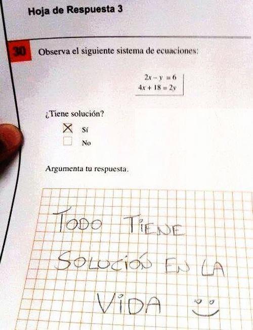 Respuestas absurdas en examenes