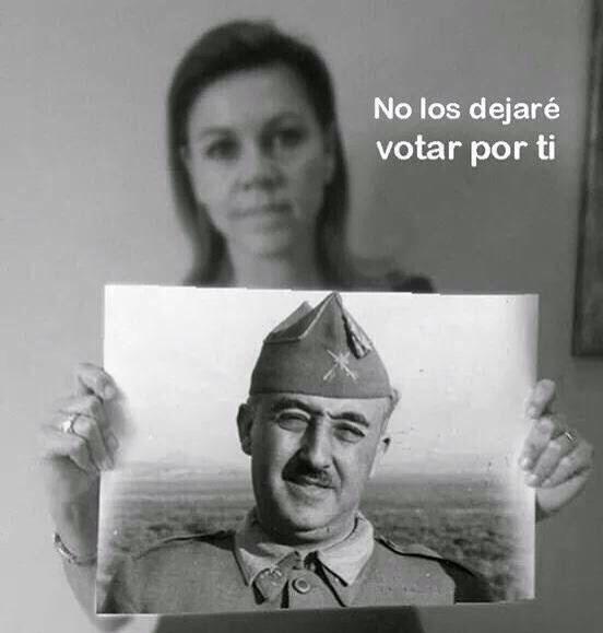 9N Cospedal no los dejaré votar