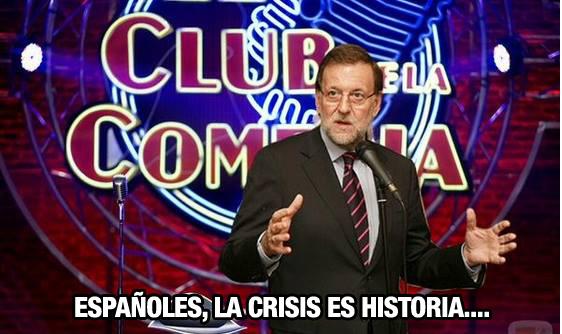 Rajoy dice que la crisis es historia