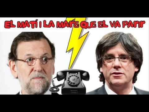 Mariano Rajoy habla por teléfono con un imitador de Carles Puigdemont