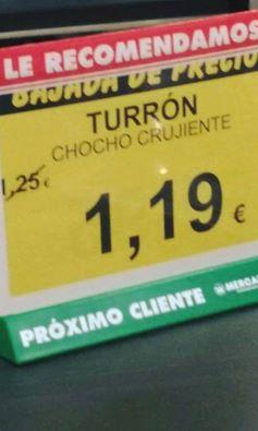 Turrón Chocho Crujiente en oferta