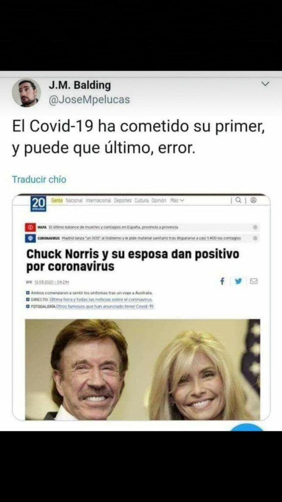 Chuck Norris coronavirus