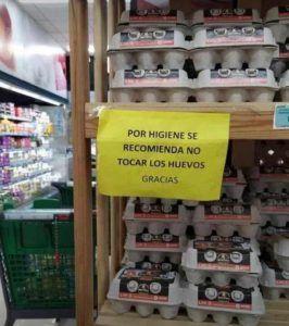 no tocar los huevos