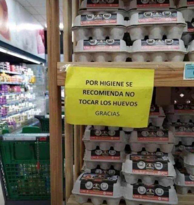 Por higiene, no tocar los huevos